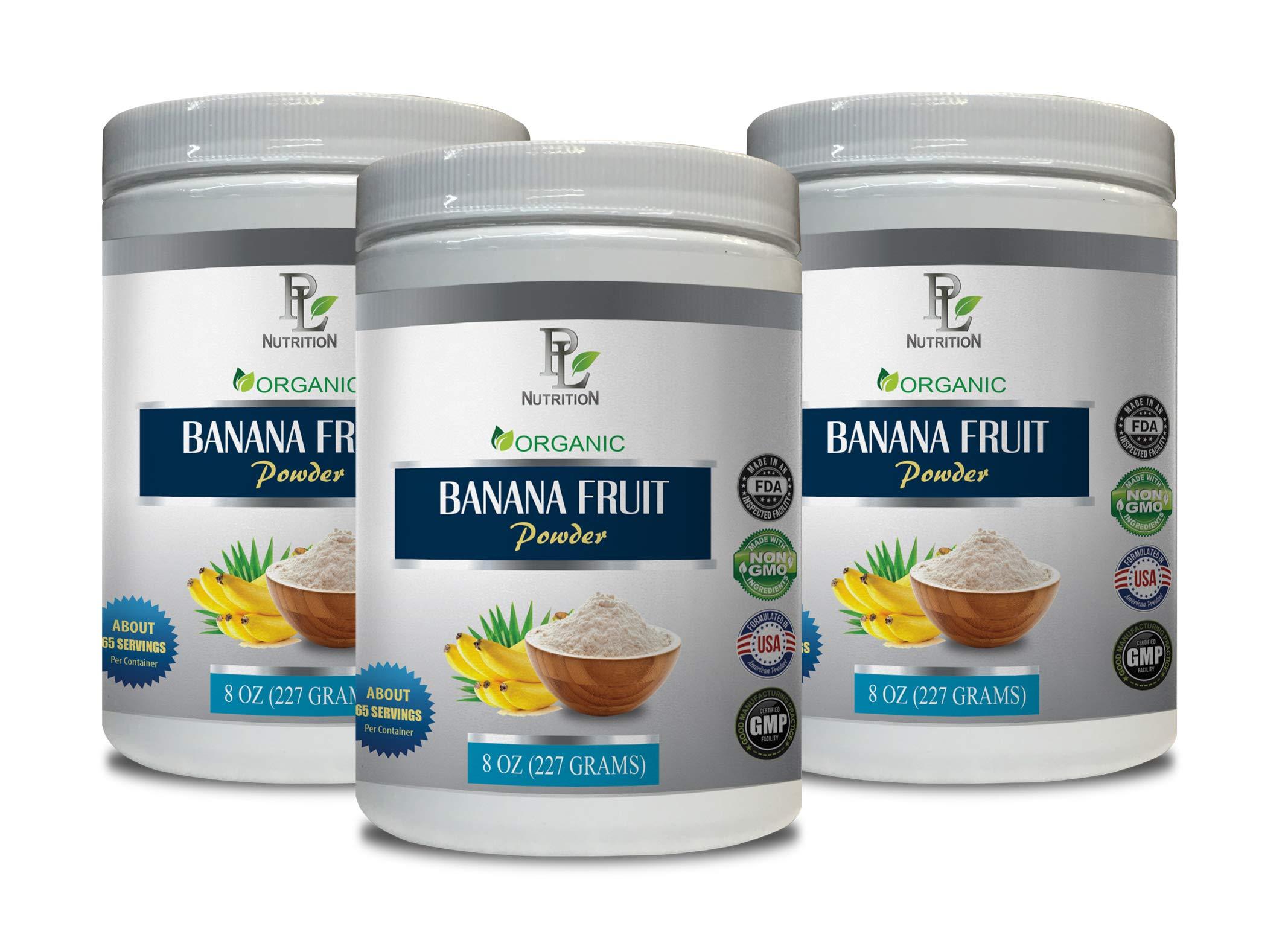 Cardiovascular Care - Banana Fruit - Organic Powder - Digestion Plus - 3 Cans 24 OZ (195 Servings)