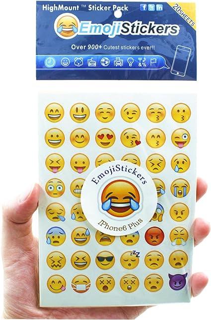Highmount Lot De 20 Feuilles D Autocollants Emoticones Avec Les Memes Visages Heureux Pour Iphone Facebook Twitter Amazon Fr Cuisine Maison