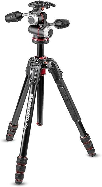 Manfrotto 190 Go Alu Kit Mit Xpro 3 Wege Neiger Schwarz Kamera