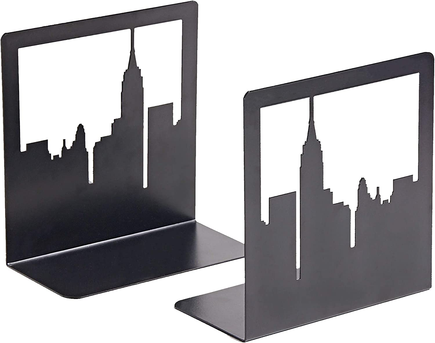 Bookends New York City, NYC Skyline Book Ends for Shelves