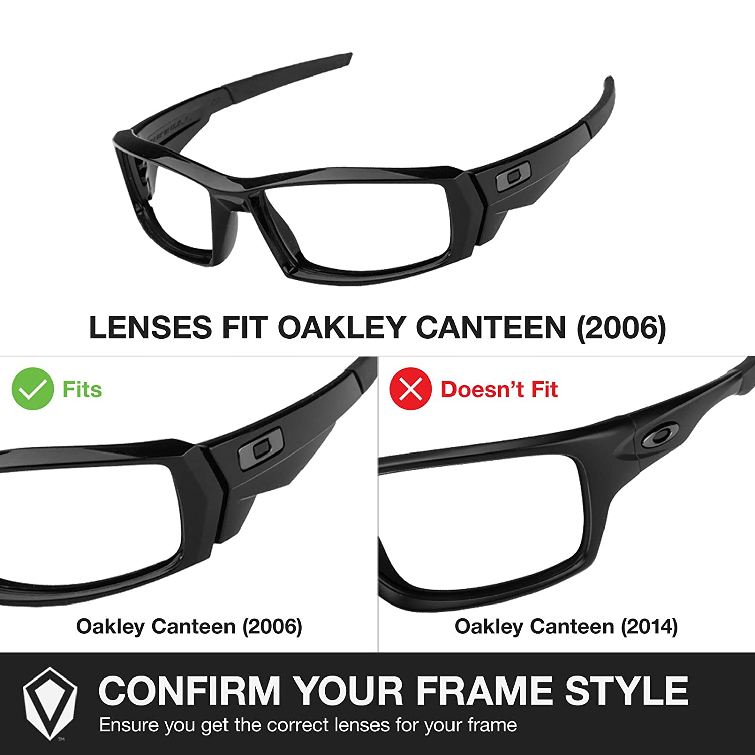 oakley canteen  amazon: revant lenses for oakley canteen (2006) polarized black chrome: sports & outdoors