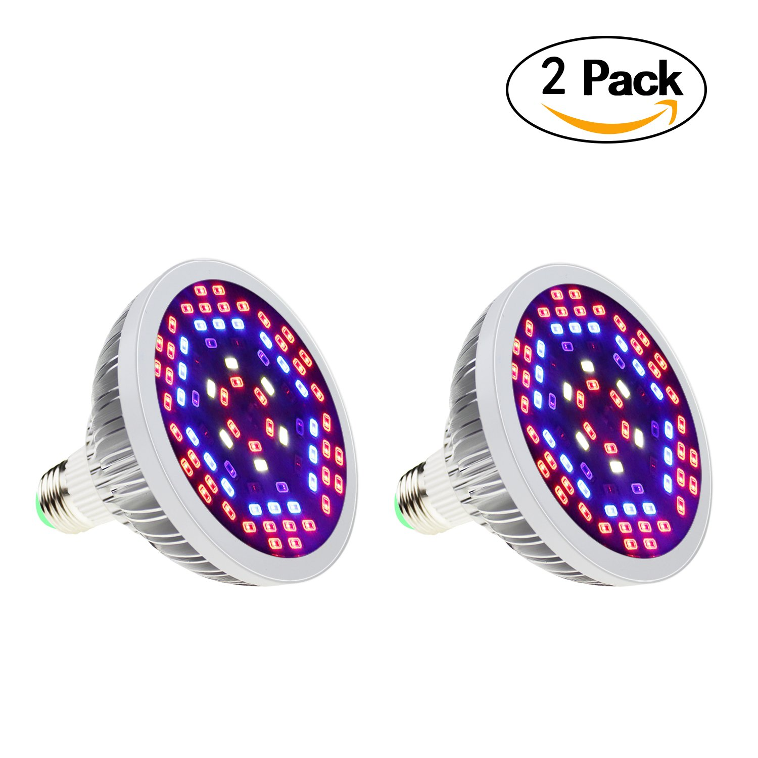SHEKAR 50W Full Spectrum LED Plant Grow Light Bulb with Shield | Growing Lamp for Home, Indoor Garden Greenhouse and Hydroponic Aquatic (E27, 78LEDs)