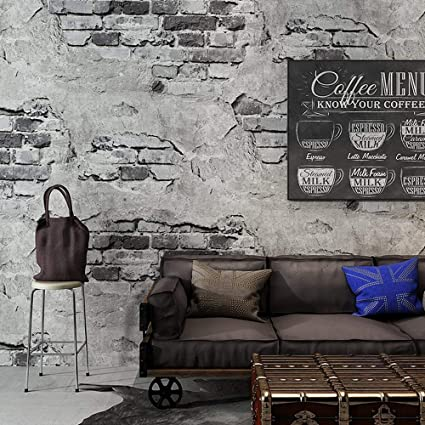 Blooming Wall Industrial Style Faux Cement Brick Wall Mural Wallpaper In Shops Cafeteria Livingroom Bedroom 54 Square Ft Roll Wallpaper 54 Square