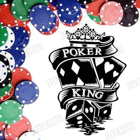 jiushixw Poker King Patrón Creativo Pegatinas de Pared para Casa ...