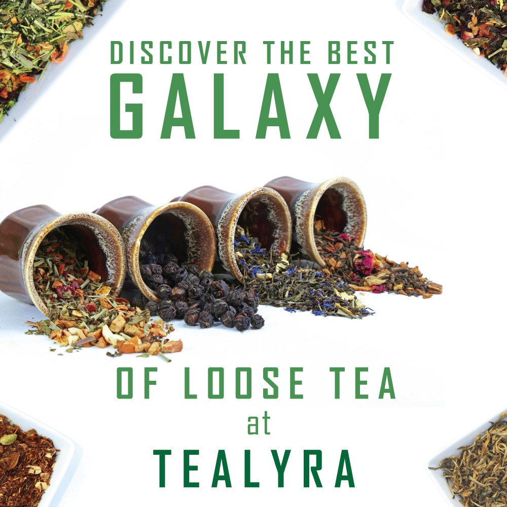 Tealyra - Rooibos Roman Province - Red Bush - Lavender and Blueberries - Herbal Loose leaf Tea - Caffeine-Free - Relaxing Tea - All Natural - 110g (4-ounce) by Tealyra