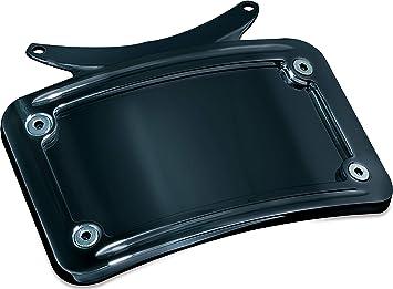 Kuryakyn Black Curved License Plate Frame for /'10-/'17 FLHX//FLTRX