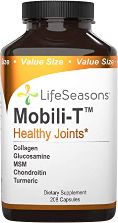 LifeSeasons - Mobili-T - Joint Pain Relief Supplement - Increase Range of Motion - Support Joint Tissue - Healthy Knee and Back Support - Contains MSM, Collagen, Chondroitin - 208 Capsules