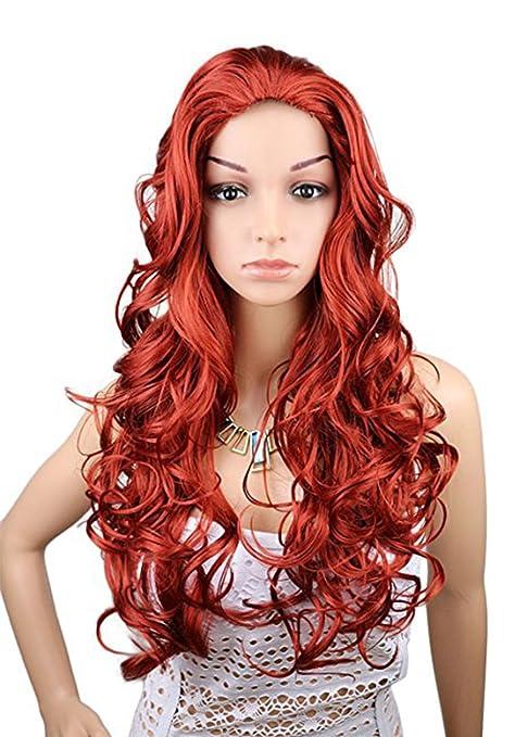 Kalyss Peluca de pelo rizado premium de 71 cm de largo, resistente al calor,