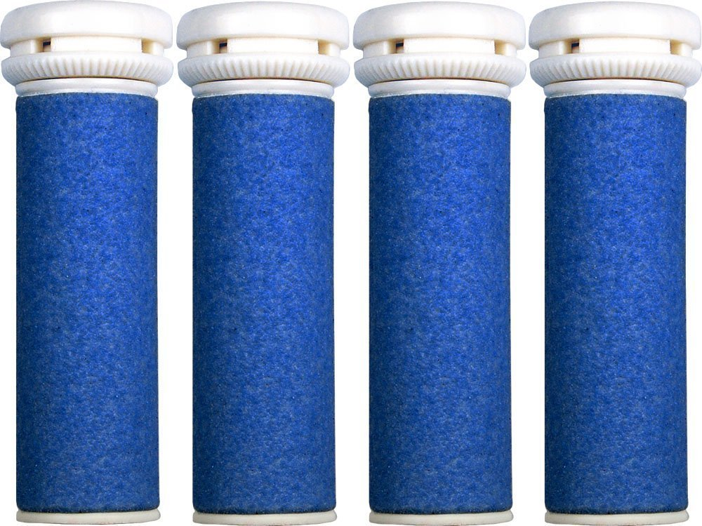 4 x Extra Coarse Blue Micro Mineral Replacement Rollers - Compatible with Micro Pedi HealthCentre RR-MP1