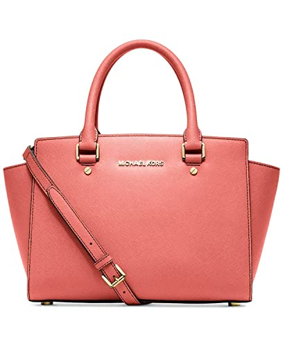 29b35dd9af54 MICHAEL Michael Kors Women s Selma Medium Satchel in Pink Grapefruit   Handbags  Amazon.com