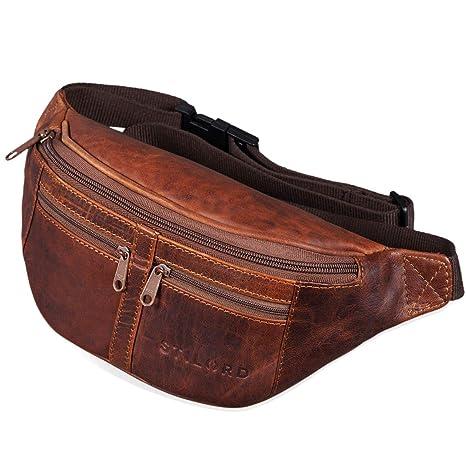 7d2acef9197af STILORD  Echo  Vintage Hüfttasche Leder Bauchtasche Gürteltasche für Herren  und Damen 7 Zoll Kamera