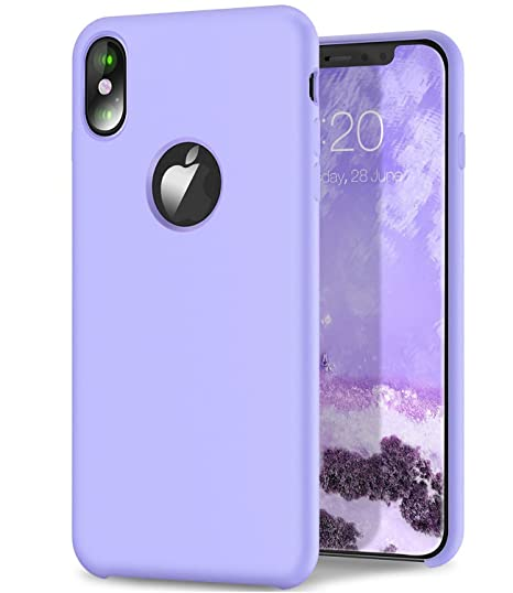 buy online 09649 a1fb0 Dailylux iPhone X Case, iPhone XS Case,Liquid Silicone Anti Scratch Slim  Fit Case Soft Water Resistant Shock Absorbing 3D Full Protective Cover for  ...