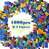 Lightaling Building Bricks Compatible with Lego - 1000 Pieces Bulk Building Blocks in Random Color - Mixed Shape…