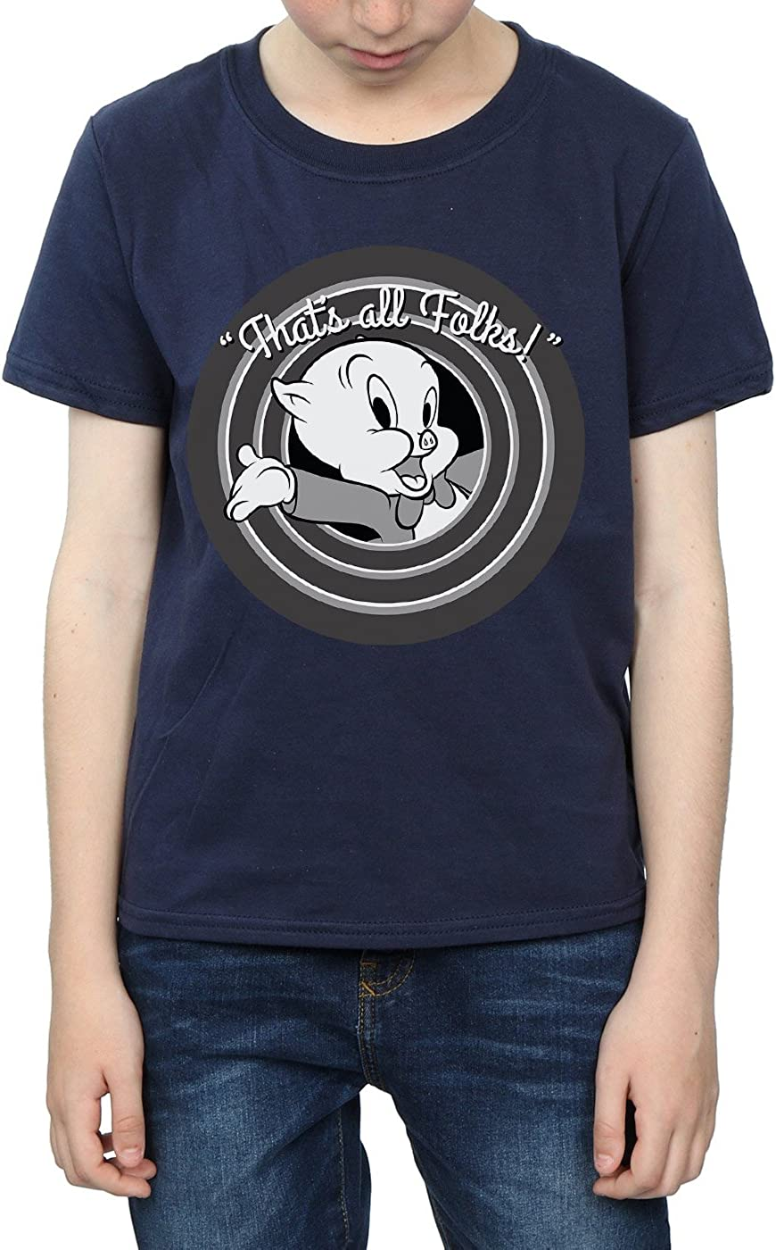 Looney Tunes Boys Porky Pig Thats All Folks T-Shirt