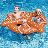 "Pool Float Premium Giant Pretzel Swimming Pool Floats for Adults and Kids by Aquatix Pro, Amazing Design, 60"" Large Size, Durable, Inflatable Floating Seat For up to 3 People, Let the Fun Begin!"