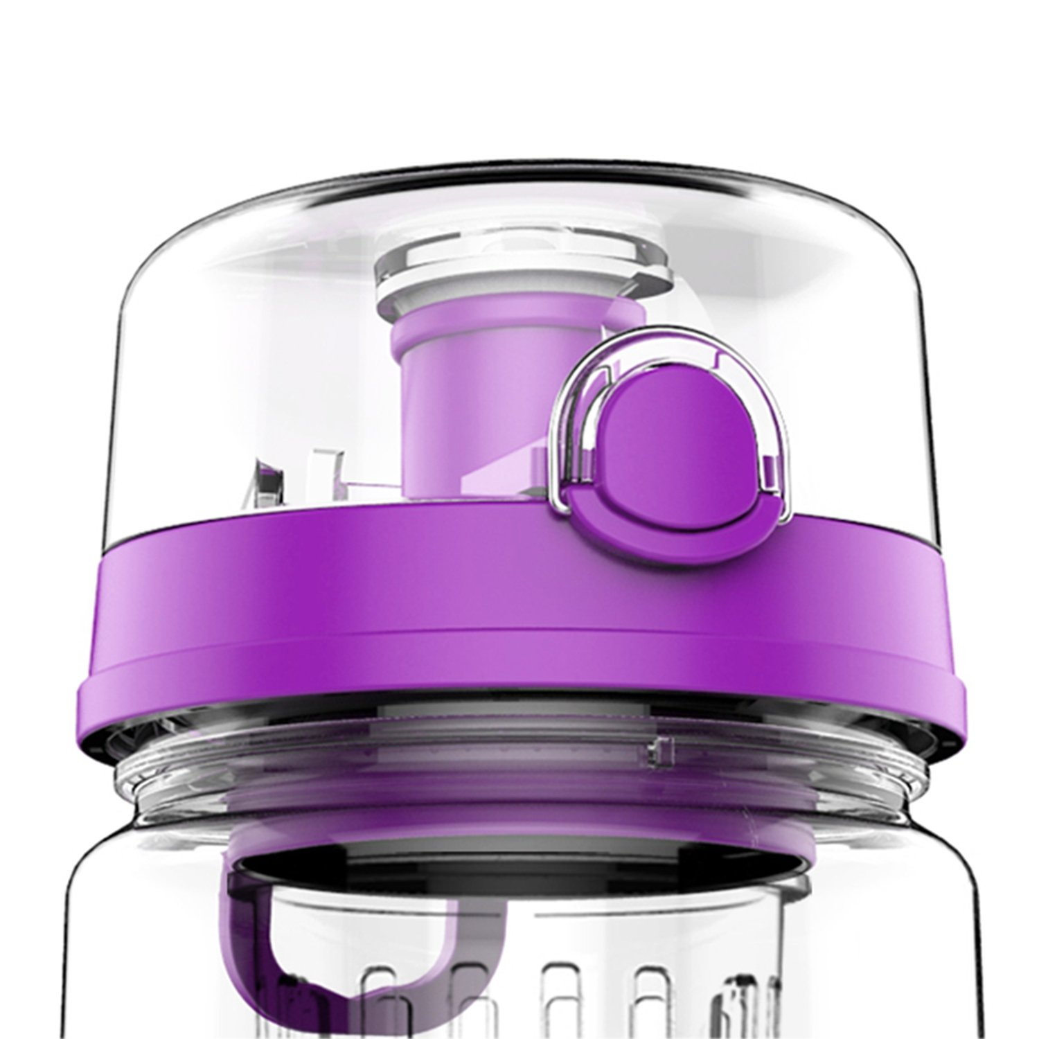 Lid for Fruit Infuser Water Bottle – 32 ozスポーツリークプルーフ(パープル) B07918RV2Y
