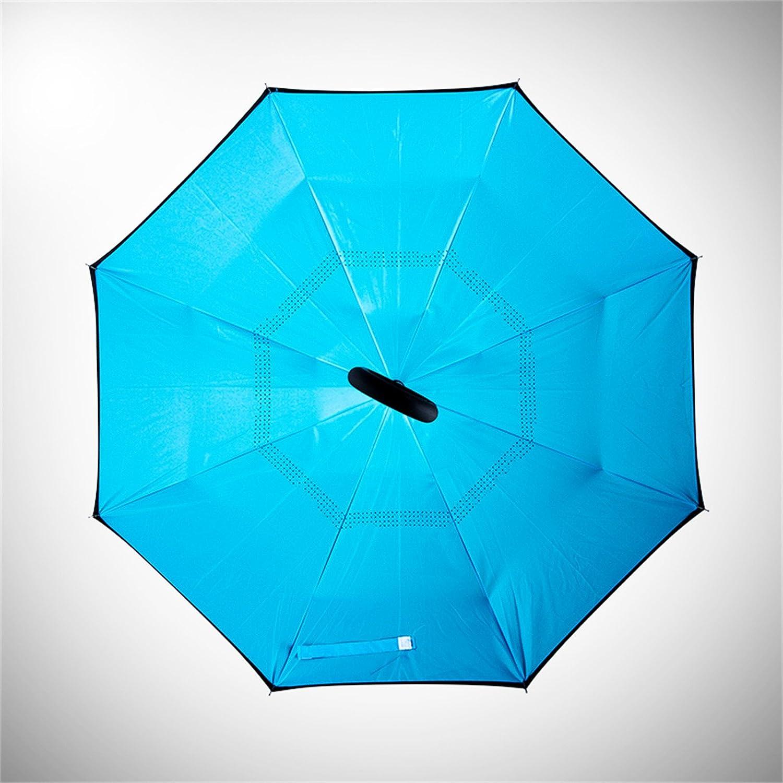 Amazon.com: Dingji Paraguas azul, tipo C, puede soportar la ...