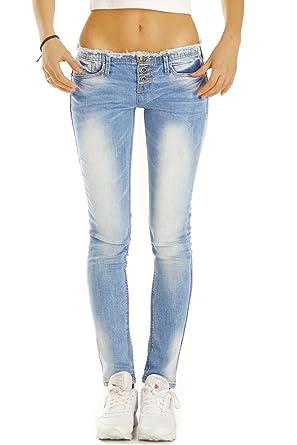 9676ee592852 bestyledberlin Damen Jeans, Skinny Fit Hosen Ausgefranst, Stretch  Röhrenjeans eng j50f 42 XL