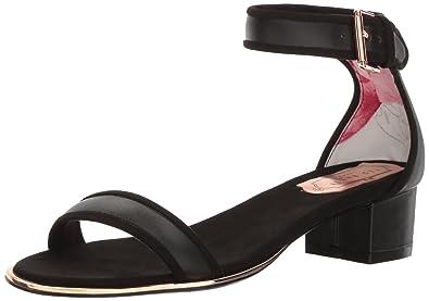 d0e9474bbd55e2 Amazon.com  Ted Baker Women s Ruz Lthr AF Black Ballet Flat  Shoes
