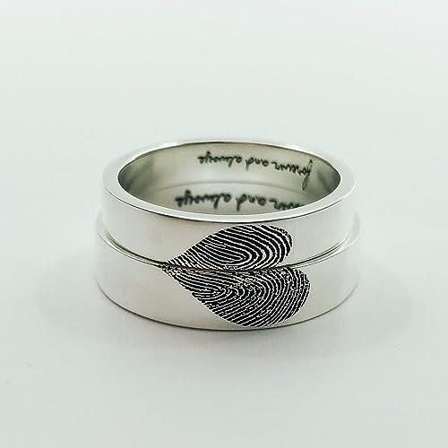 Amazon Com 20 Off New Design Fingerprints Rings Handwriting Ring