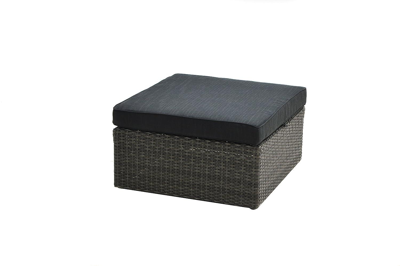 Ploß Outdoor furniture Lounge Beistelltisch / Hocker, Swinging, grau/braun, 71x71x30,5 cm, 0,1688 ml, 7200001