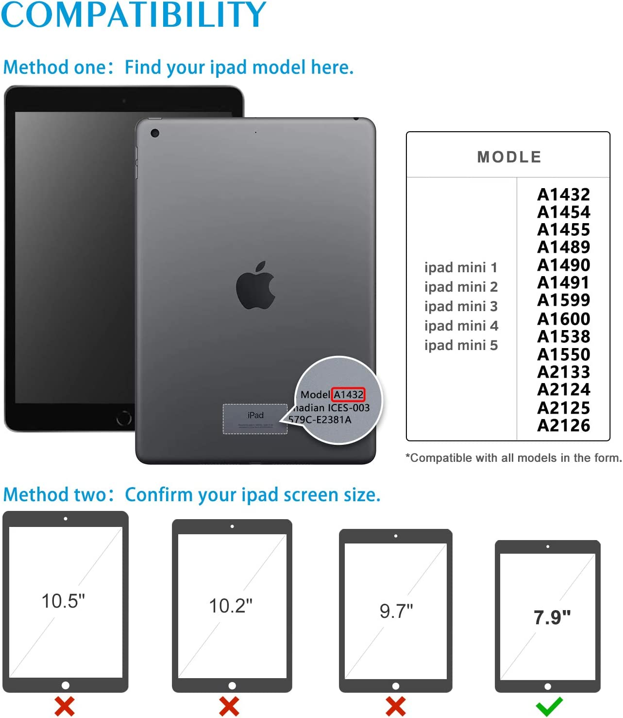 Noir Ipad Mini 1 2 3 4 5 TopEsct Coque Ipad Mini Pouce, Housse de Protection Antichocs avec Porte-Crayon Int/égr/é
