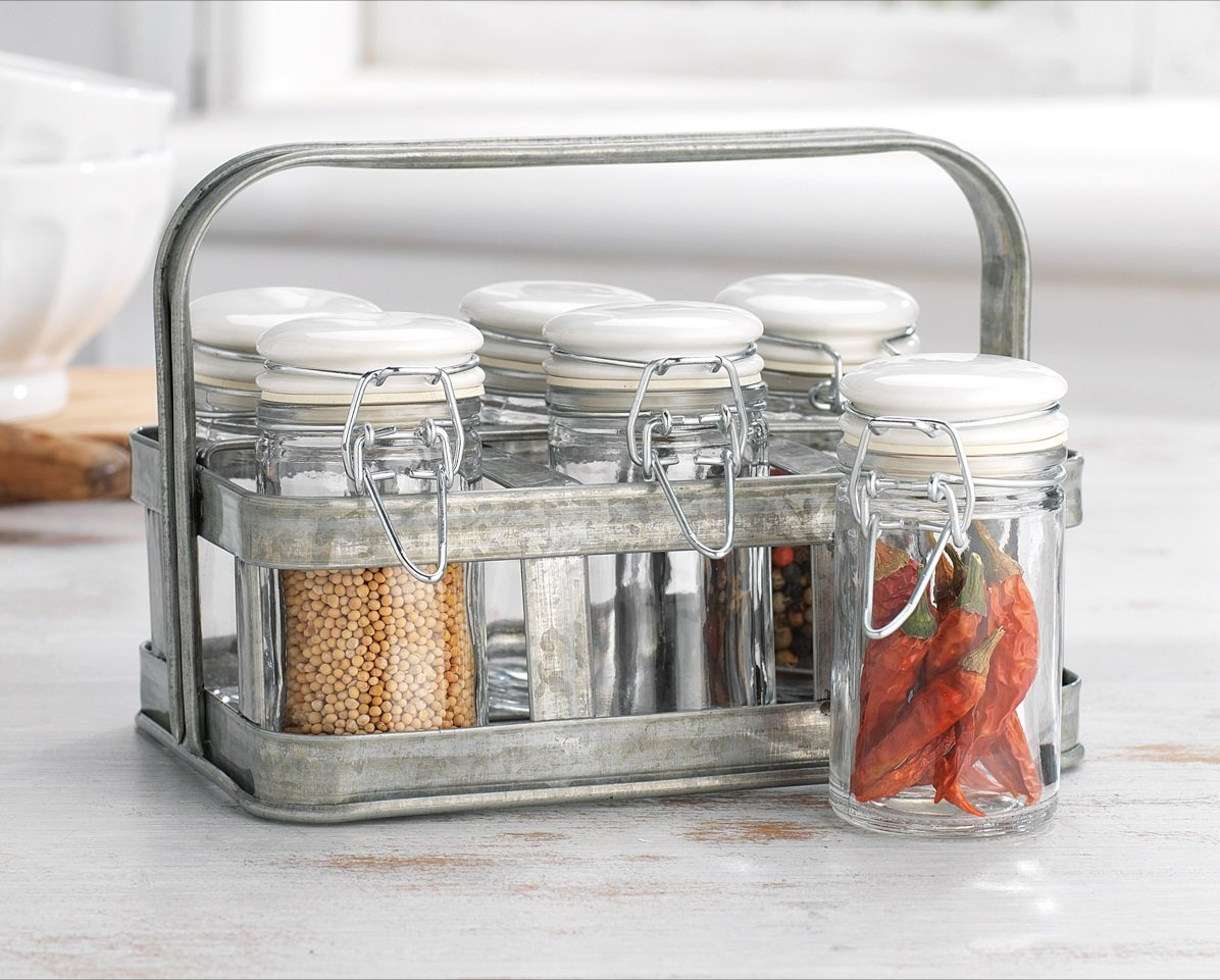 a752ee64d2f6 Amazon.com: Classic Home Quality Airtight Glass Spice Jar Hermetic ...