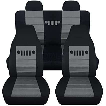 Great Designcovers 2002 2007 Jeep Liberty Seat Covers Molded/Adjustable Front U0026  Rear Headrests: