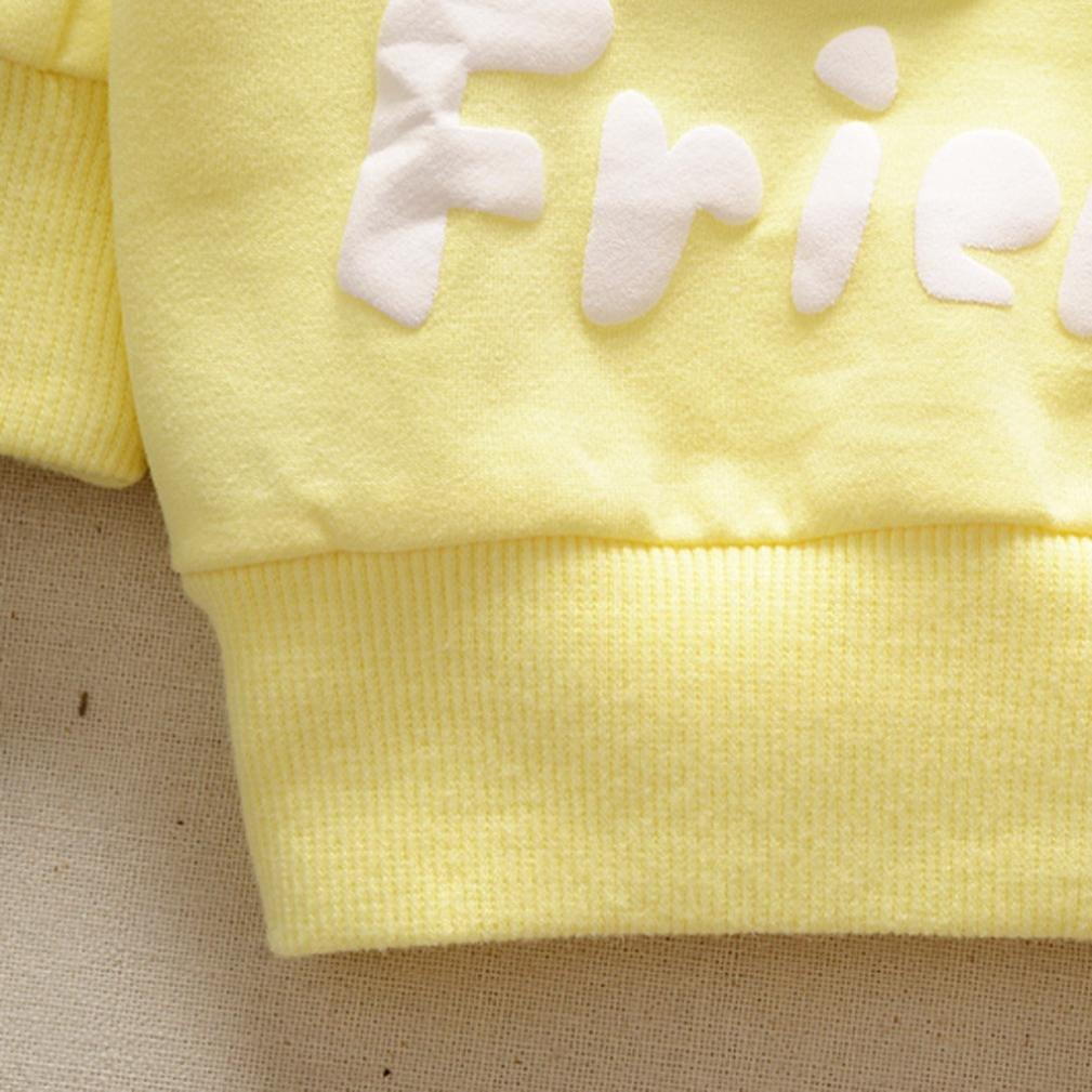 Yannerr Bebé niña niño Manga Larga Camiseta Tops Recién Nacido Primavera Dibujos Fresa Estampado Blusa suéter Chaqueta Sudadera Camisa Mono Vestido Traje ...