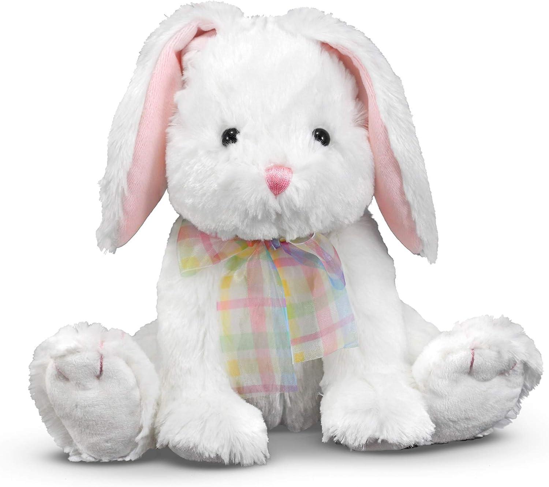 b Easter Bunny Rabbit with Egg Bow Plush Animal B