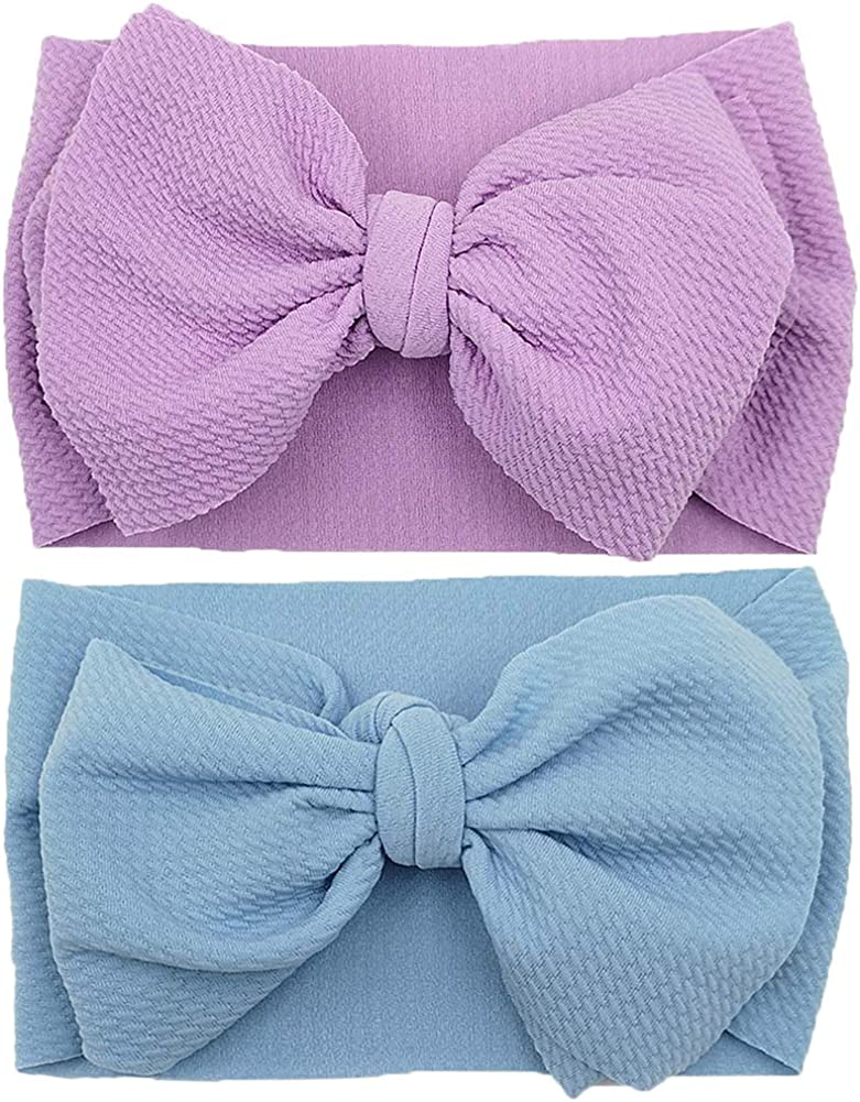 Baby Girl Bow Headbands Newborn Hairband Baby Turban Knotted Headband Nylon Elastic Headwraps for Children Hair Accessories