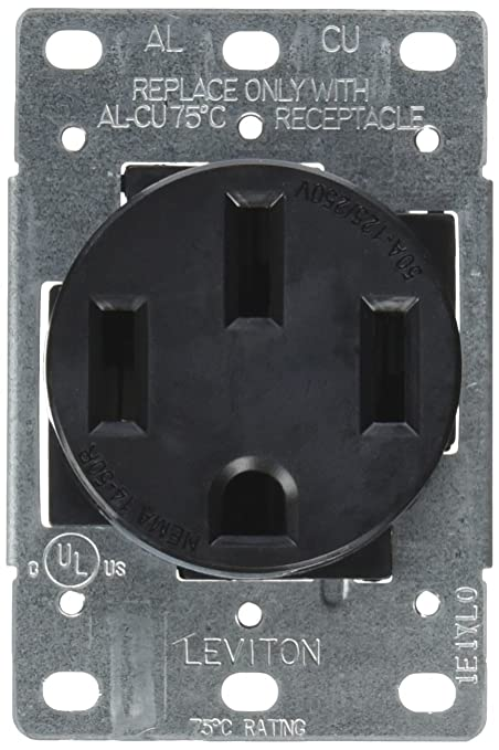 Nema 14 50r >> Leviton 279 S00 50 Amp 125 250v Nema 14 50r 3p 4w Flush Mounting Receptacle Straight Blade Industrial Grade Grounding Side Wired Steel