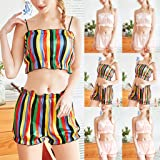 Women Summer Sleepwear - Sleeveless Ruffles