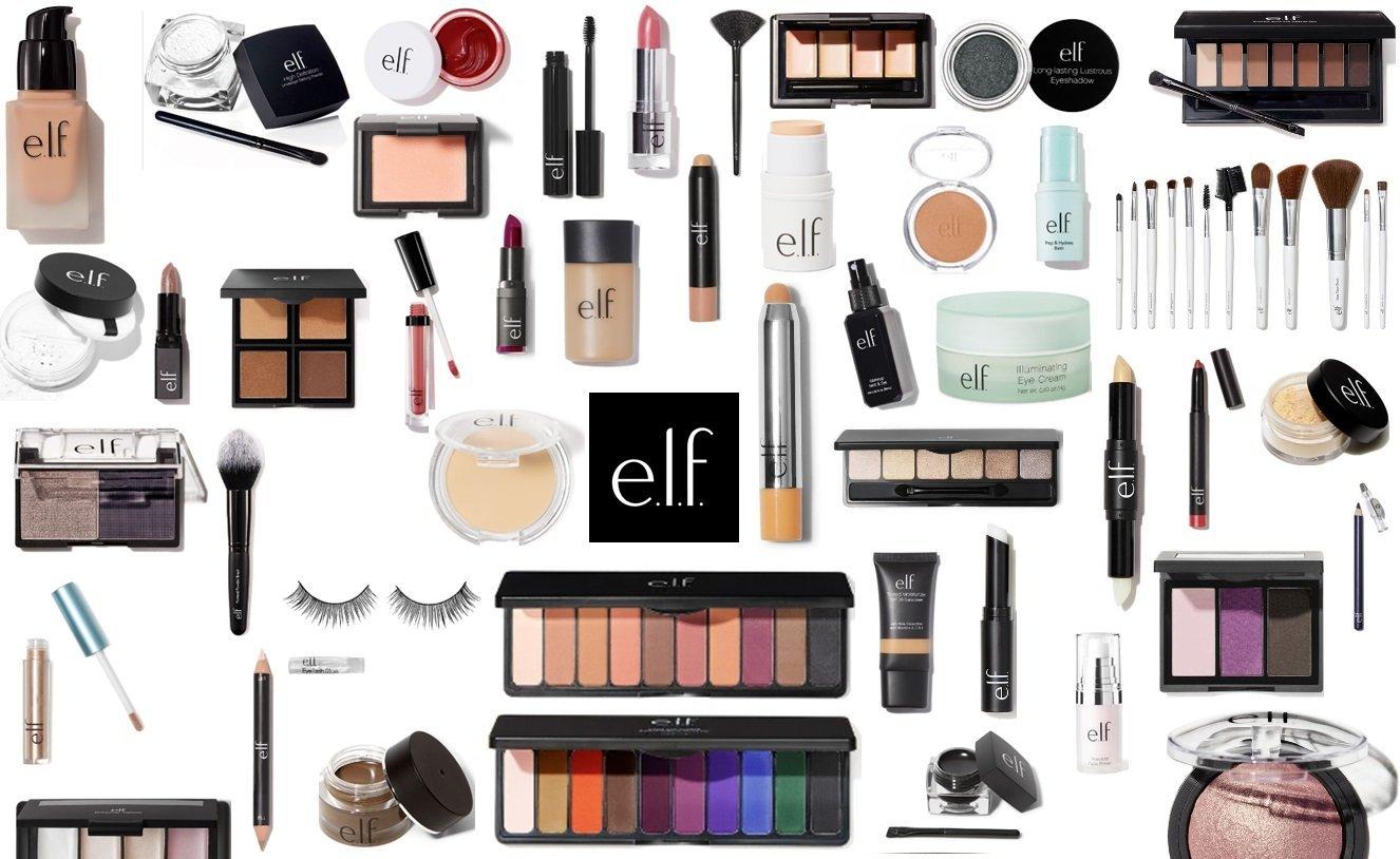 e.l.f. Makeup Assorted 10 Piece Lot Choose Your SKIN TONE Mixed ELF Cosmetics Kit with No Duplicates (Light/Medium)