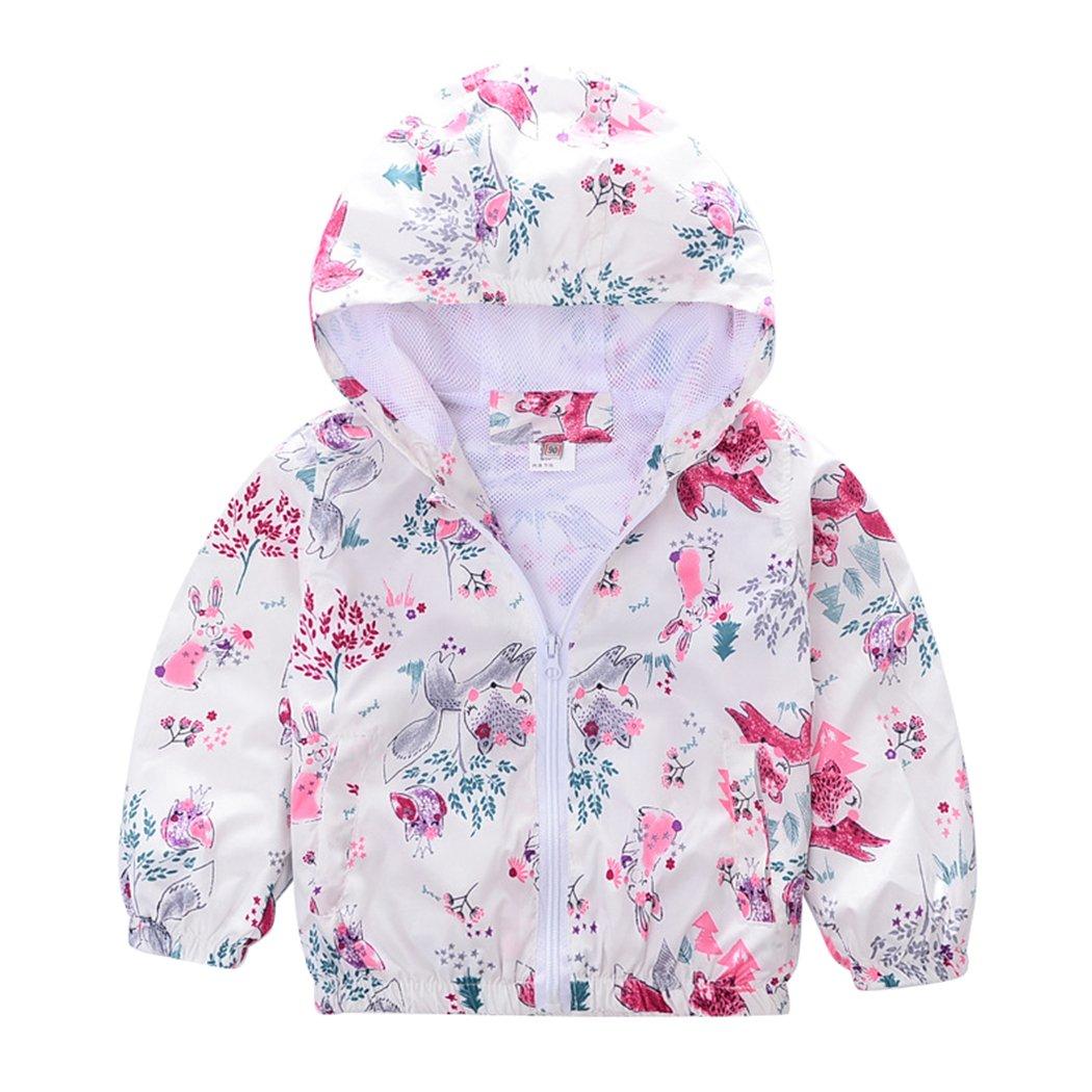 Maygold Kids Long Sleeves Dinosaur Zip-Up Hoodie Casual Jacket Boys Girls Coat