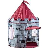 Charles Bentley Children's Kids Pop up Boys Grey Knight Castle Play Tent Indoor Outdoor