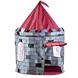 Charles Bentley Children's Kids Boys Grey Knight Castle Play Tent Indoor Outdoor
