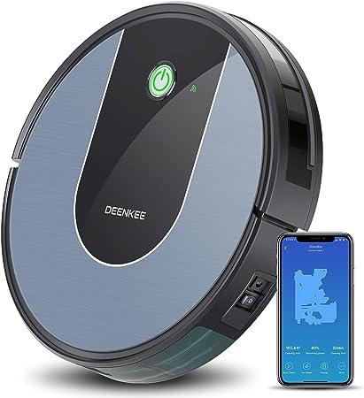 DEENKEE DK700 - Robot aspirador con control por aplicación, control por voz Alexa, navegación por giroscopio y carga automática para pelo de animales, alfombras, suelos duros: Amazon.es: Hogar