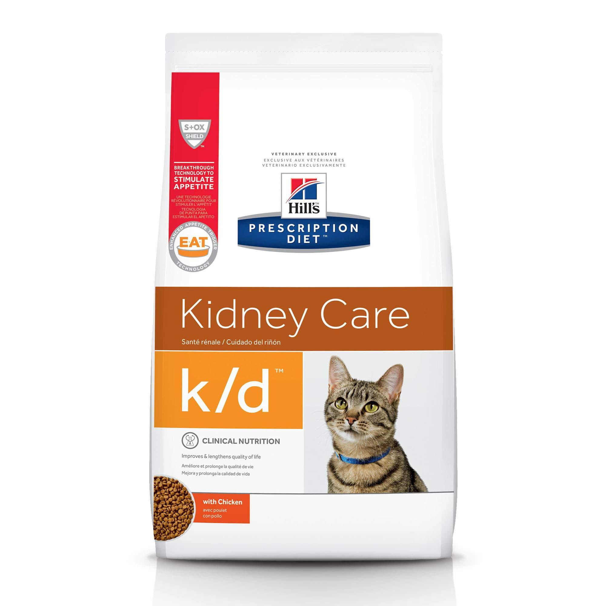 HILL'S PRESCRIPTION DIET Dry Cat Food, Veterinary Diet, k/d Kidney Care