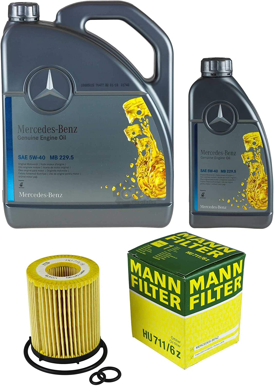 Filter Set Inspektionspaket 6 Liter Original Motoröl 5w 40 Mb 229 5 Mann Filter Ölfilter Auto