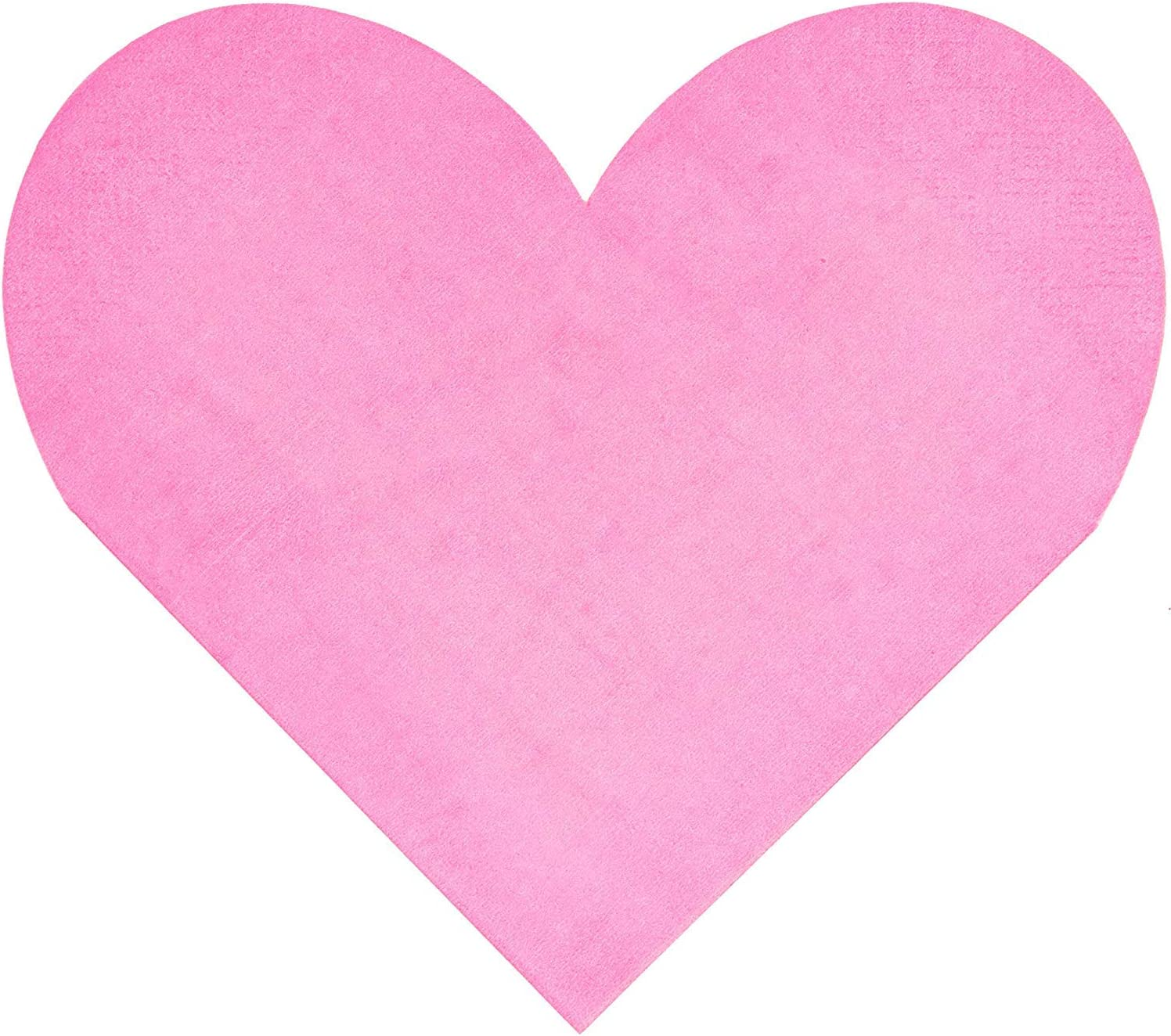 Blue Panda 50 Pack Pink Heart Die-cut Napkins 3 Ply