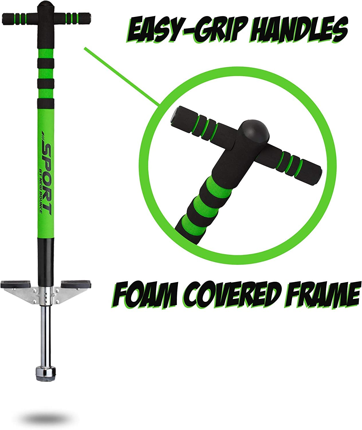 Easy Grip Sport Pogo Stick for Ages 5-9 New Bounce Soft