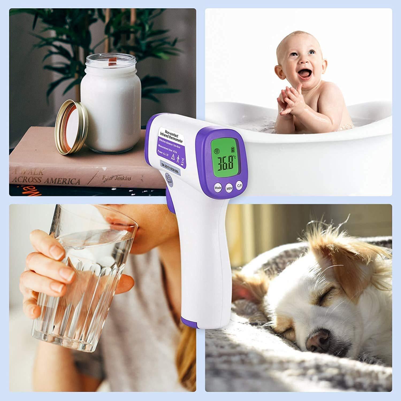 pantalla LCD ni/ños y adultos SIMZO Term/ómetro de frente infrarrojo para beb/és term/ómetro de frente digital sin contacto con alarma de fiebre