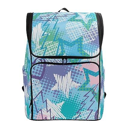 Amazon com: Graffiti Spray Paint Rock Stars Laptop Backpack
