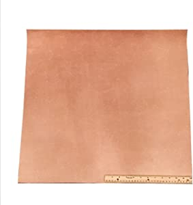 Leather Side Piece Veg Tan Split (not topgrain) Medium Weight 24 X 24 Inches 4 Square Feet