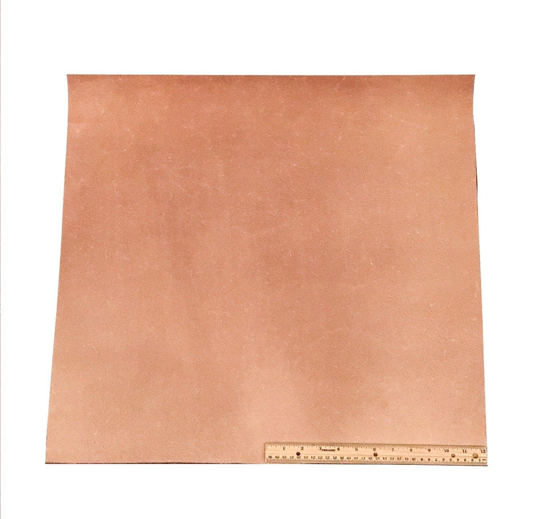 Leather Side Piece Veg Tan Split Medium Weight 4 Square Feet
