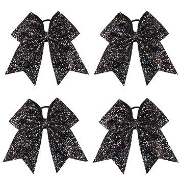 """DIY baby headband /& hair bow supplies Black rainbow 3/"""" sequin fabric bow"""