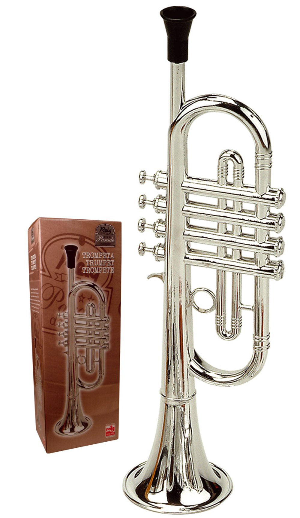 Reig Deluxe Trumpet (Silver) by by Reig