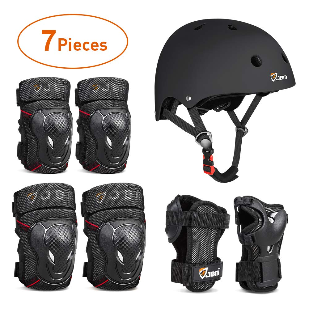 JBM-4-Sizes-Extra-Pads-Diamond-Curved-Series-Full-Protective-Gear-Set-Multi-Sport-Helmet-Knee-and-Elbow-Pads-with-Wrist-Guards-for-Biking-BMX-Scooter-Skateboard-Inline-Skating-and-Others