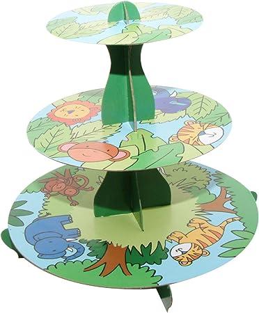 Multicolore Alzata per Cupcakes a 3 Piani Jungle Colore Mason Cash